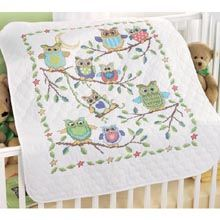 Baby Owls Baby Quilt, I love love love this.  Thinking I need to start on it