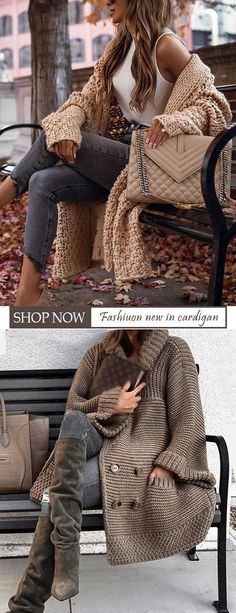 Mode Outfits, Winter Outfits, Casual Outfits, Winter Clothes, Womens Fashion Casual Summer, Latest Fashion For Women, Cozy Fashion, Cardigan Fashion, Mode Style