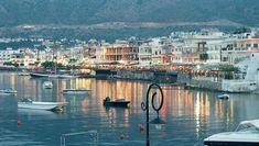 Crete - Hersonissos at dusk Wonderful Places, Great Places, Places To See, Beautiful Places, Places Around The World, Travel Around The World, Around The Worlds, Crete Island, Greece Islands