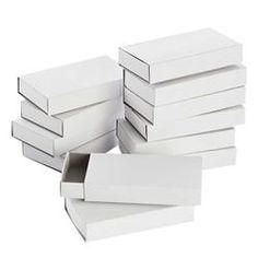 Blanco luciferdoosjes - groot, 12 st. - Papier en karton | Blanco materiaal Kan ook  bij een andere winkel