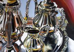 Silver Tea Set Still Life Painting by allartforyou on Etsy, $3000.00
