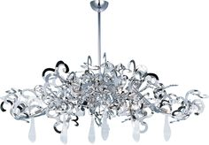 Tempest 9-Light Chandelier shown in Polished Nickel by Maxim