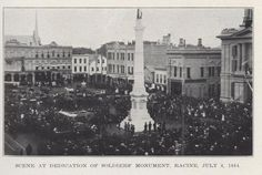 Dedication of Soldier's Monument, July 4th, 1884.