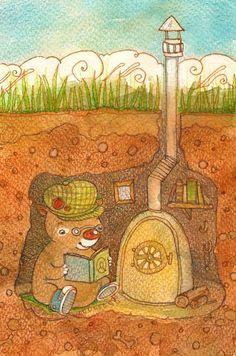 Book worm by Adelaida on DeviantArt