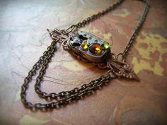 Steampunk Necklace  Vintage Swiss Watch Movement by ArtfulGoodies, $50.00