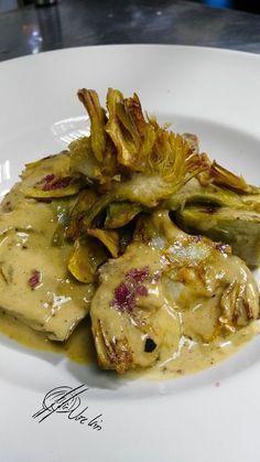 . Las alcachofas con chantilly de foie*
