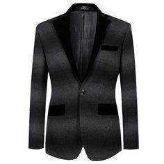 393c5b2ed6f Men Slim Fit Suit Jacket Blazer Plus Size Casual Fashion Design Prom Stage  Wear Seven7