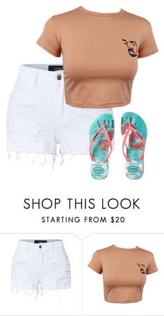 """""""Untitled #475"""" by stephaniasant on Polyvore featuring LE3NO and Havaianas"""