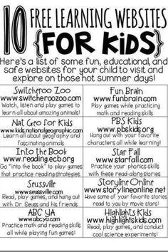{free learning websites for kids}