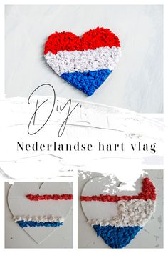 #CRÊPEPAPIER #DIY #KNUTSELEN, #KNUTSELENMETPAPIER #KONINGSDAG, #NEDERLAND #NEDERLANDSEVLAG, #ORANJEBOVEN Easy Peasy, Diys, Crafty, Dutch, Blog, Hearts, Bricolage, Dutch Language, Do It Yourself