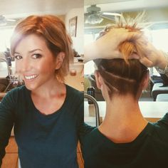 Trendige kurze Haare Ideen sollten Sie diese Saison versuchen Trendy Short Hair Ideas You Should Try This Season # Ideas Pretty Hairstyles, Bob Hairstyles, Shaved Hairstyles, Pixie Haircuts, Corte Y Color, Great Hair, Hair Today, Hair Dos, Short Hair Cuts