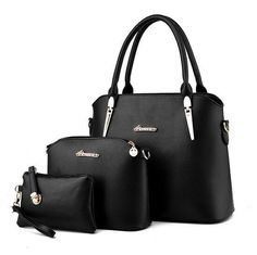 Leather Women's 3 Piece Set - Handbag+Purse+Messenger Bag 11 Colors