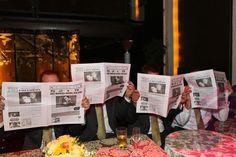 custom newspaper wedding favor