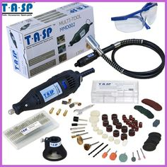 TASP Electric Rotary Tool Mini Drill with Flexible Shaft. Electric Rotary Tool Mini Drill with Felxible Shaft and Accessories. Rotary tool Diamond rotary burr drill engraving bits in box). V Model, Dremel Rotary Tool, Drill Set, Woodworking Skills, Tool Set, Power Tools, Flexibility, Cool Things To Buy, Electrical Tools