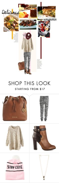 """Hiding the food baby!"" by karneliana ❤ liked on Polyvore featuring Michael Kors, VILA, ALDO, Stay Cute, Paula Bianco, cozy and lovefood"