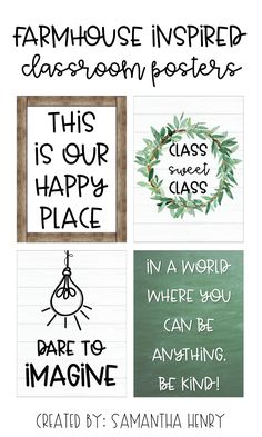 Farmhouse Classroom Posters Farmhouse themed classroom posters from Samantha Henry perfect for a Farmhouse theme! Always aspired to. Classroom Board, Classroom Posters, Classroom Setup, Classroom Design, Future Classroom, School Classroom, Classroom Organization, Bulletin Boards, Classroom Decor Themes