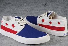 11d976376a6c  converse Souvenir Edition David Beckham Stars Lace Up Converse All Star  Blue Beige Low Tops