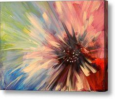 Abstract Flower Acrylic Print By Karen A Mesaros
