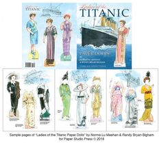 Ladies of the Titanic - scratch n dent sale [scratch n dent sale] : Paper Dolls of Classic Stars, Vintage Fashion and Nostalgic Characters, for Kids and Collectors Barbie Paper Dolls, Paper Dolls Book, Dolls Dolls, Victorian Paper Dolls, Vintage Paper Dolls, Titanic, Barbie Fashion Sketches, Authentic Costumes, Christian Missionary