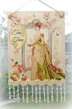 Tea Time B Wall Sign 8 x 13