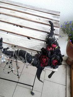 527058928b2 květinová fantasy čelenka s rohy   Zboží prodejce jitkita