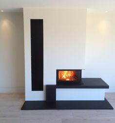 Kernow Fires Contura installation wood burning stove installation in Cornwall. Wood Fireplace, Modern Fireplace, Fireplace Design, Fireplace Ideas, Fireplaces, Stove Installation, Log Burner, Scandinavian Interior Design, Natural Home Decor