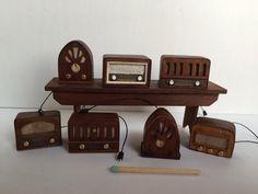 Miniature 1:12 old style radios by #cinen #miniature #radio