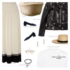 """""""Light"""" by amberelb ❤ liked on Polyvore featuring Comme des Garçons SHIRT, Acne Studios, Maryam Nassir Zadeh, Tak.Ori, Janessa Leone, women's clothing, women, female, woman and misses"""