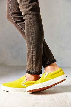 Vans Vintage Suede Classic Womens Slip-On Sneaker - Urban Outfitters Fancy Shoes, Me Too Shoes, Slip On Sneakers, Slip On Shoes, Vans Sneakers, Ladies Slips, Sneaker Boots, Vans Classic Slip On, Sock Shoes