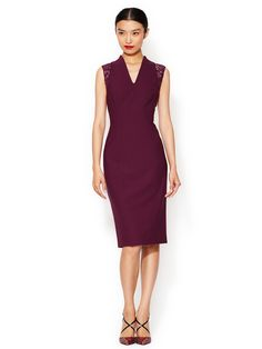 Wool V-Neck Sheath Dress by Rachel Roy at Gilt