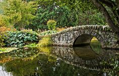 Stone Bridge found in Queenstown Botanic Gardens New Zealand.