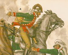 AWI Americans: Detail from THE CAVALRY OF THE AMERICAN REVOLUTION, by Liliane and Fred Funcken.