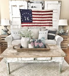 4th Of July Living Room Decor Ideas | Bless This Nest