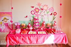 50 Girl Birthday Party Ideas....this photo is of the Pinkalicious Party