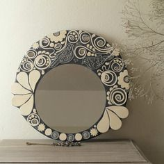 Miroirs en mosa que sur pinterest miroirs mosa que for Miroir rond mosaique