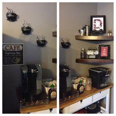 Coffee Bar. Coffee Decor, espresso bar