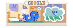 Google Gameday Doodle #1...little 'g' dreams big! #GoogleDoodle