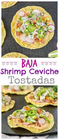 Baja Shrimp Cevich Tostadas