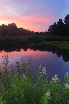 Ware River Summer Sunset Photograph by John Burk - Ware River Summer Sunset Fine Art Prints and Posters for Sale