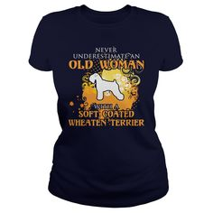 Soft Coated Wheaten Terrier Dog T-Shirts, Hoodies. CHECK PRICE ==► https://www.sunfrog.com/LifeStyle/Soft-Coated-Wheaten-Terrier-Dog-126580788-Navy-Blue-Ladies.html?id=41382