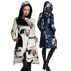 Top Quality New Arrival Ukraine Fashion 2017 Women Winter Duck Down Parka Brand Luxury Hooded Thick Warm Parkas Jacket Coats Winter Jackets Women, Coats For Women, Clothes For Women, Down Parka, Parka Coat, Long Down Coat, Long Coats, Women's Coats, Womens Parka