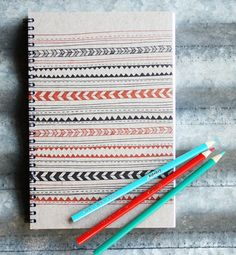Letterpress Sketchbook Lines and Dashes. $17.00, via Etsy -1canoe2.