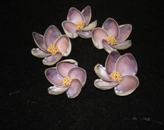 Items similar to Seashell Flowers - Purple Cay Cay - Shell Flowers - Seashell Crafting - Sailors Valentine on Etsy Seashell Art, Seashell Crafts, Seashell Projects, Diy Projects, Shell Flowers, Shell Ornaments, Sea Crafts, Christmas Ornaments To Make, Flower Pictures