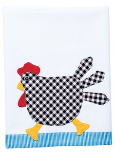 Charming Chicken Tea Towel