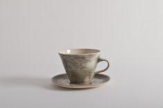 wonki ware charcoal tea cup and saucer Teacup, Cup And Saucer, Charcoal, Ceramics, Mugs, Tableware, Ceramica, Tea Cup, Pottery