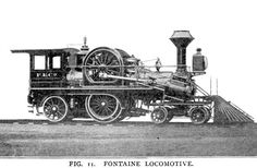 In 1881 the Grant Locomotive Works, of Paterson, N. J., built a locomotive, designed by Eugene Fontaine, of Detroit, which excited great attention for a few years owing to the radical departure from established practice in designing locomotives.