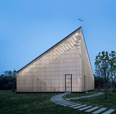 AZL architects builds the nanjing wangjing chapel out of symmetry and light