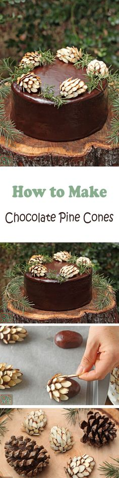 How to Make Chocolate Pine Cones - Recipe
