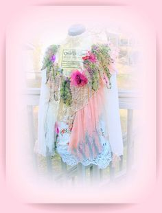 One of a Kind Bohemian Romantic Gypsy Unique Top by JacketsbyJahne, $175.00