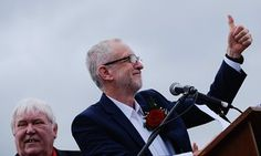 Jeremy Corbyn addressing the Durham miners' gala yesterday.